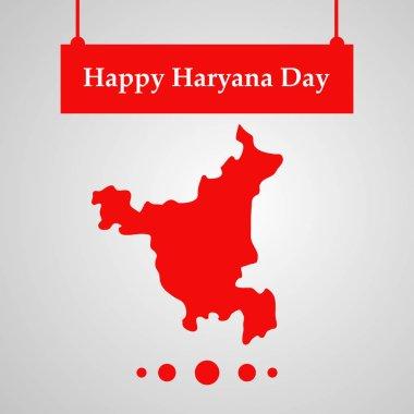 illustration of elements of Indian state Haryana Divas background