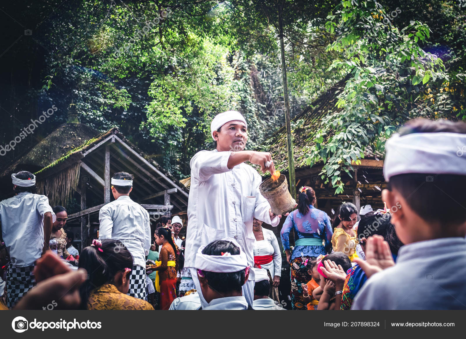 Bali Indonesia July 4 2018 Group Of People On A