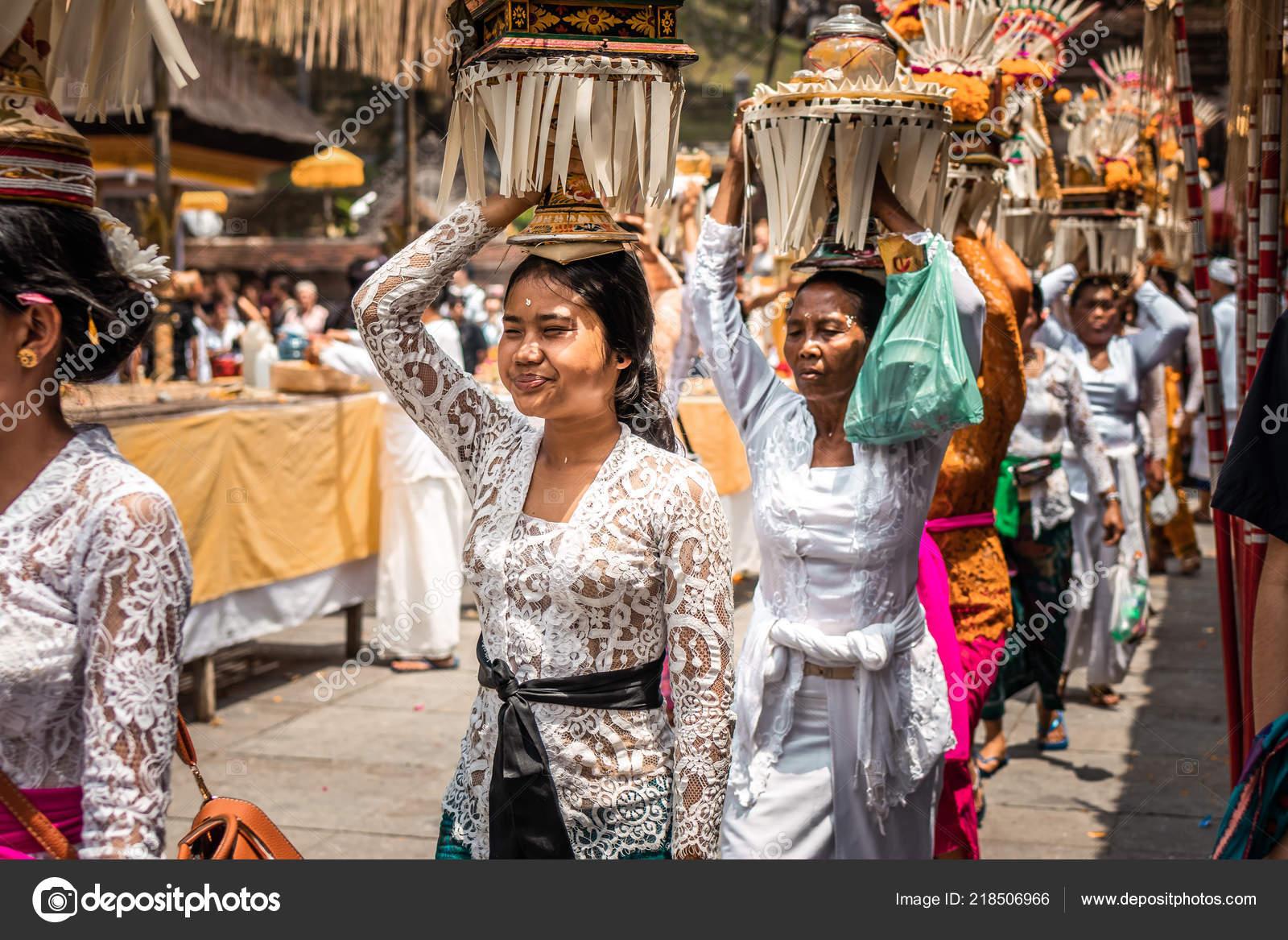 Bali Indonesia September 25 2018 Balinese Women In