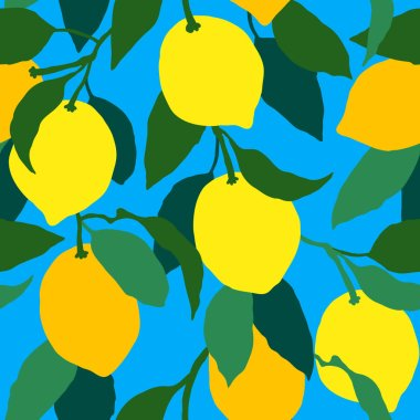 Vector illustration of lemon pattern