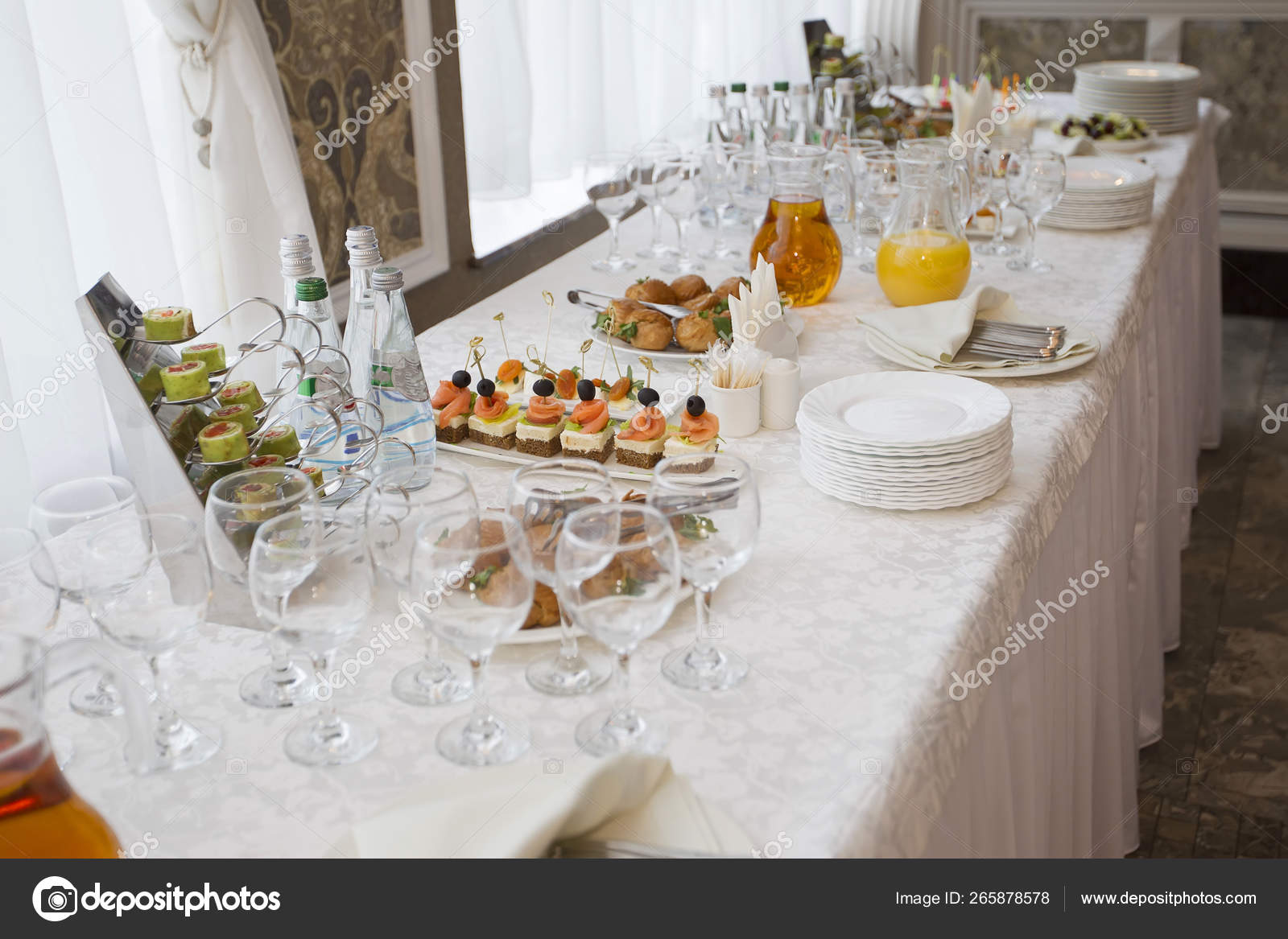 Picture of: Long White Buffet Table Stock Editorial Photo C Aspsvz 265878578