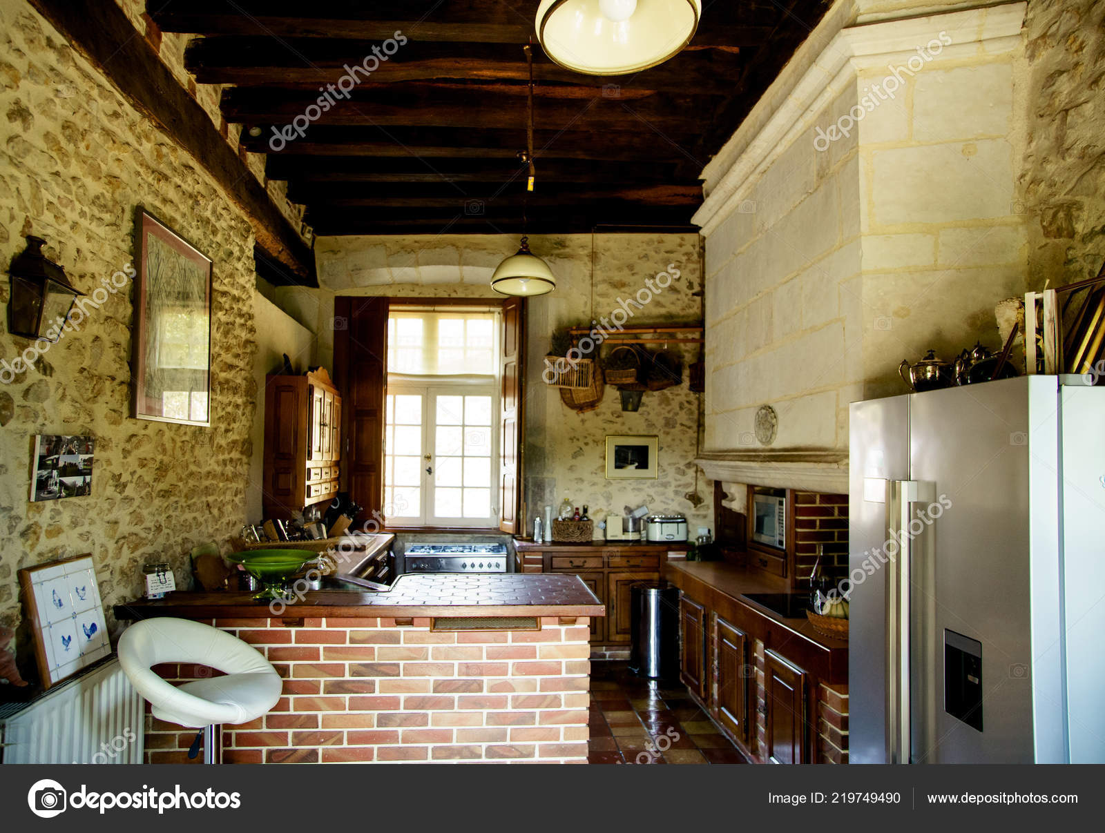 Poitiers France August 2018 Kitchen Interior French Chateau Vintage