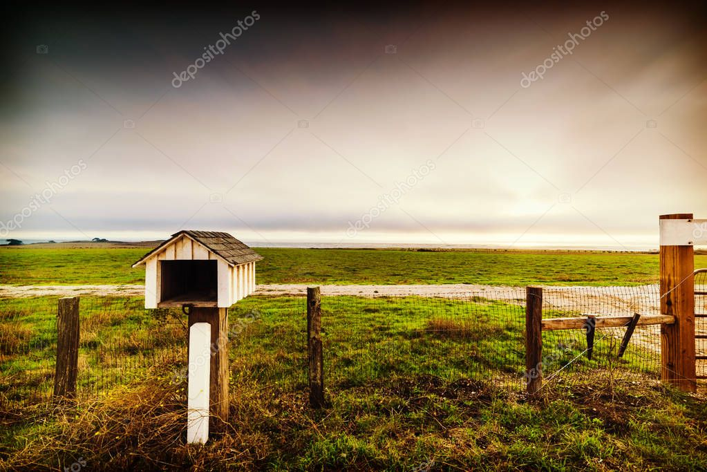 Mailbox in a ranch in Central California, USA