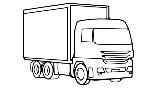 LKW Whiteboard Animation 4k Filmmaterial