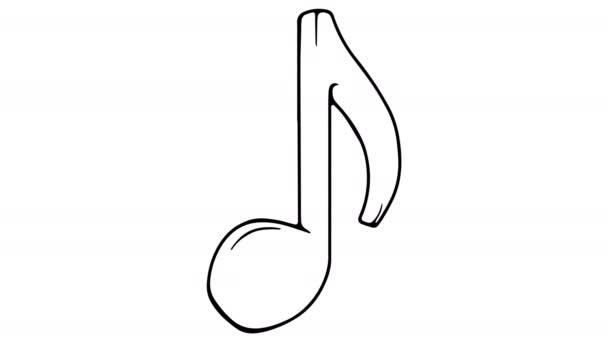 Musical Note fehér tábla animáció 4K felvételek