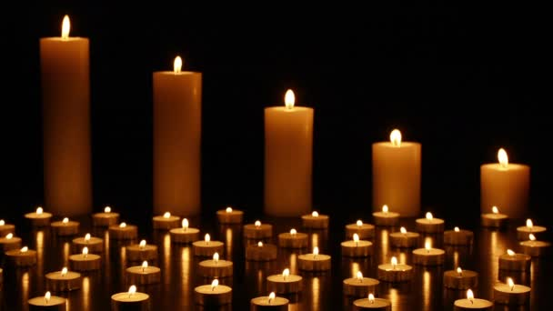 Candles on Dark Background for Thanksgiving, Valentines Day, Happy Birthday, Memorials, Festive, Christmas and Romance