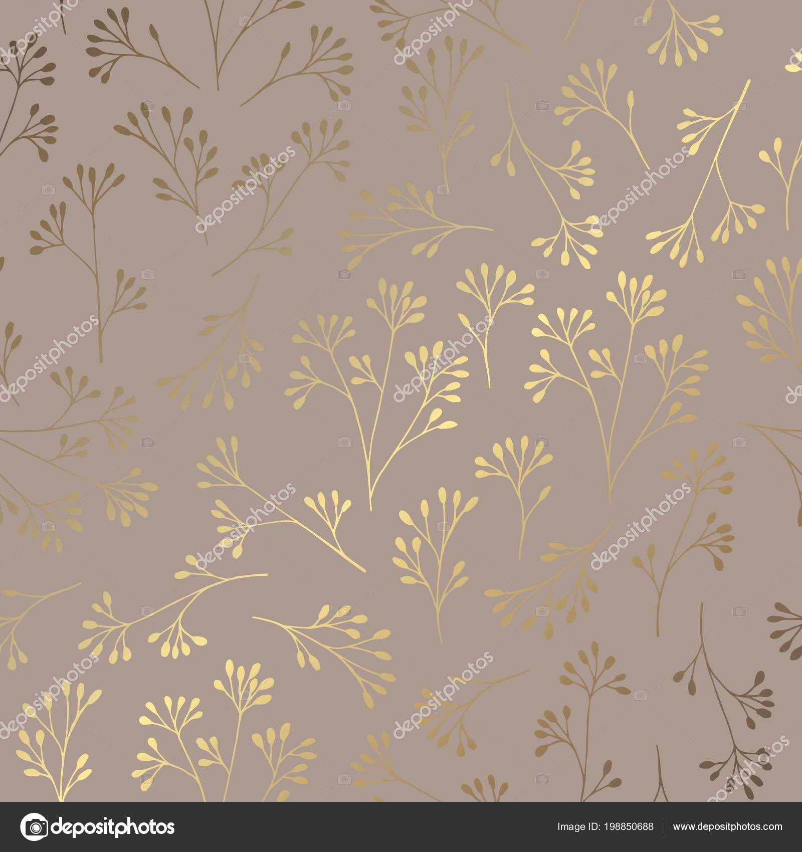 Luxury Golden Floral Pattern On A Brown Background Elegant Decorative Vector For The Design Of Invitations Cards Covers Business