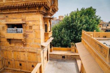 Salim Singh ki Haveli, historical architecture in Jaisalmer, India