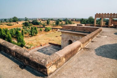 Orchha Fort Rai Parveen Mahal, ancient ruins in India