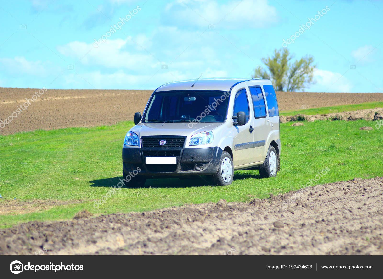 Chernihiv Ukraine May 2015 Grey Fiat Doblo Cargo Van Countryside