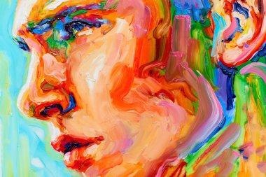"""Картина, постер, плакат, фотообои """"живопись мужской портрет масло на холсте подробно портрет портреты фото"""", артикул 208154162"""