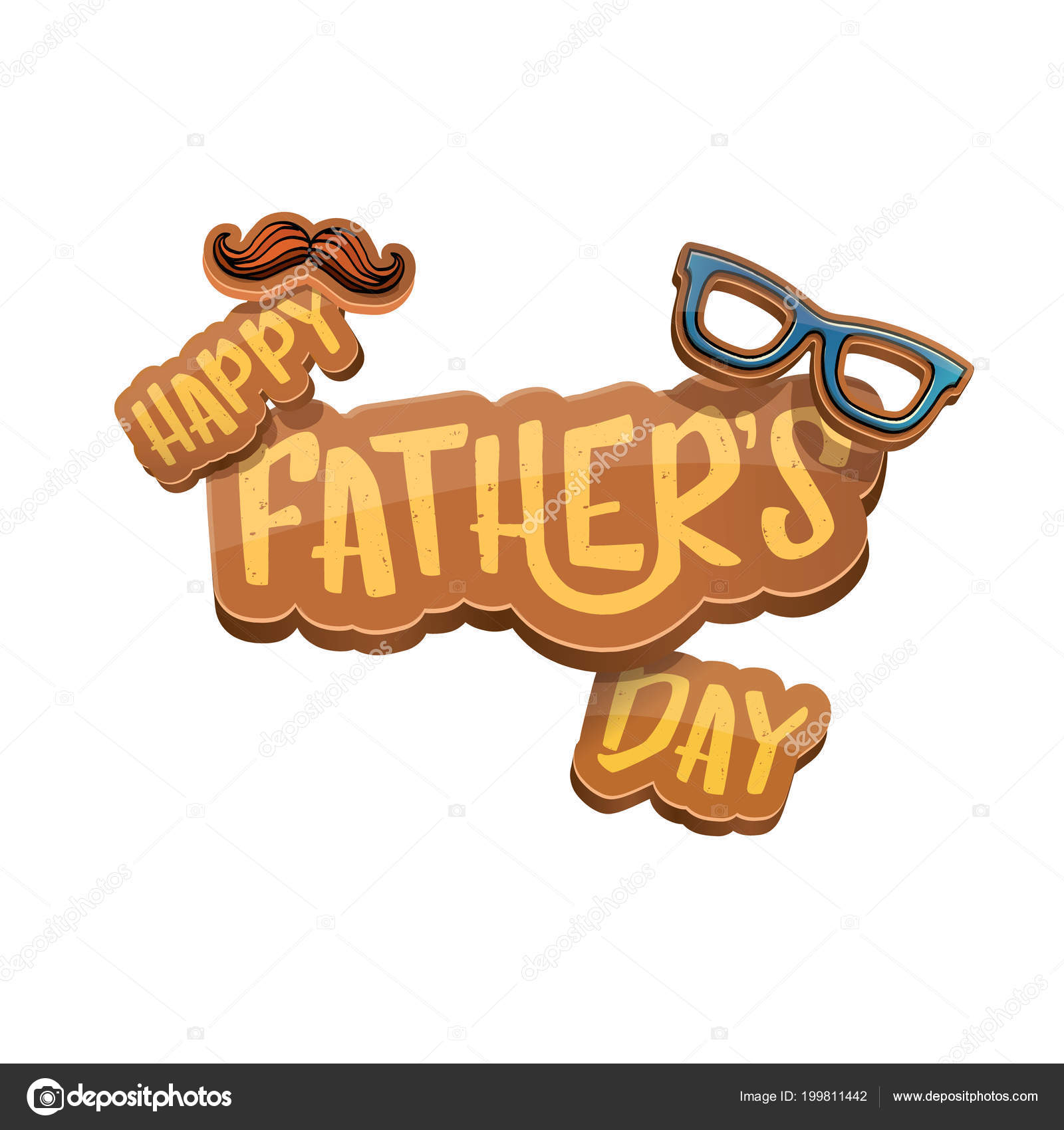 Happy fathers day vector cartoon greeting card fathers day label or happy fathers day vector cartoon greeting card fathers day label or icon isolated on white background zm1ter vektr m4hsunfo