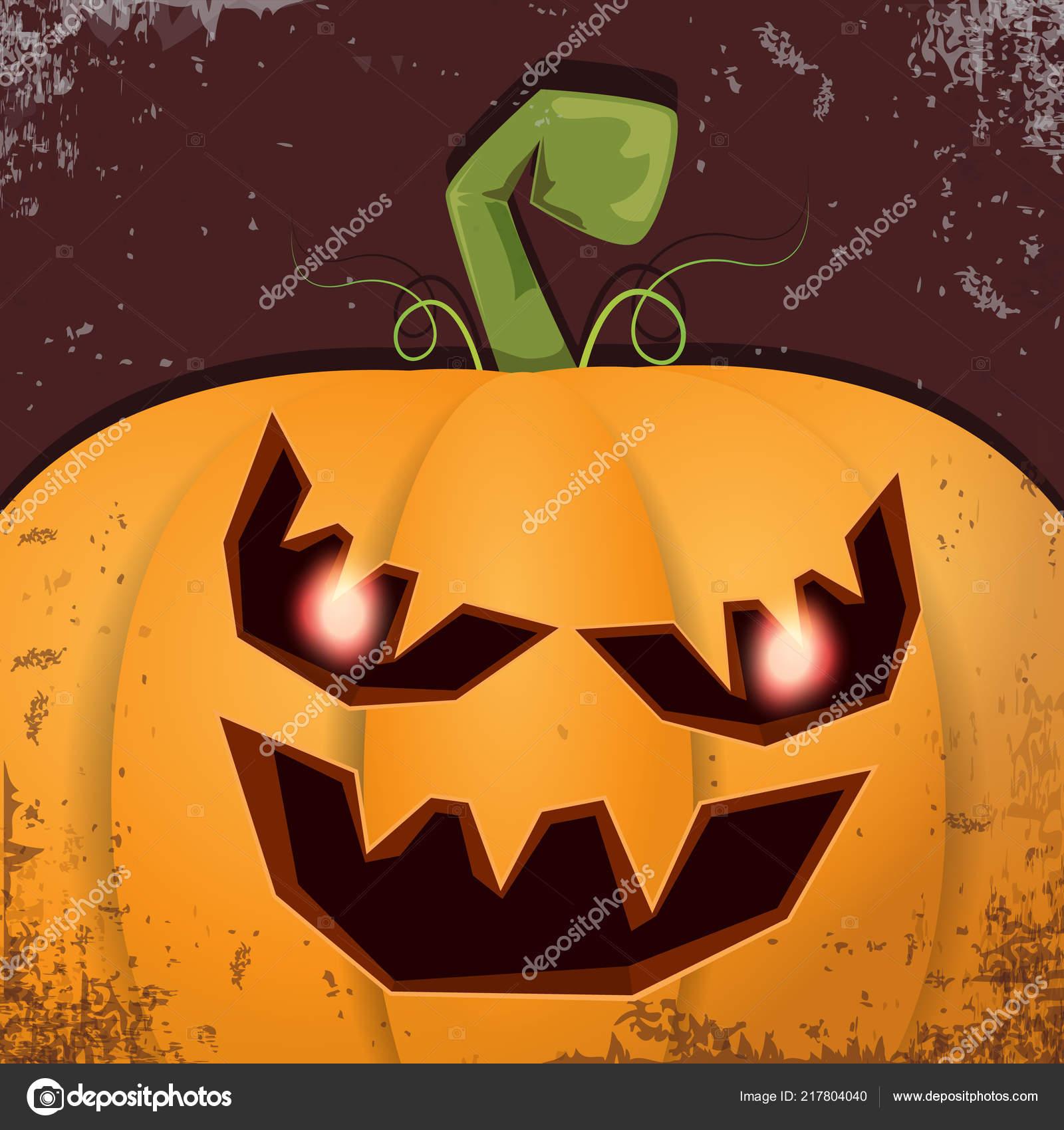 Dessin Anime Halloween Jack.Halloween Citrouille Au Visage Effrayant Image Vectorielle Zm1ter C 217804040