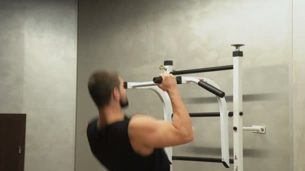 sport fitness gym workout strong man pull ups