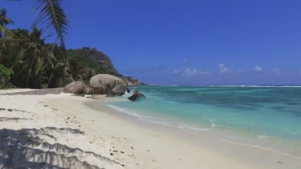 Walking On Beautiful Beach, Anse Source dArgent, La Digue, Seychelles 1