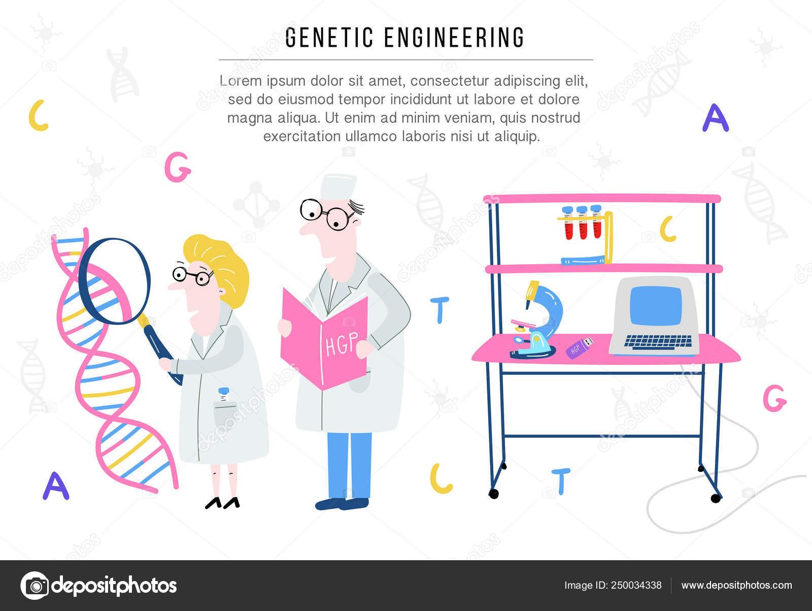 Estructura Del Adn Explora Científico Concepto De Mano