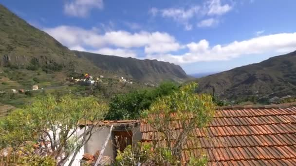 La Gomera panorama view in 4k slow motion 60fps