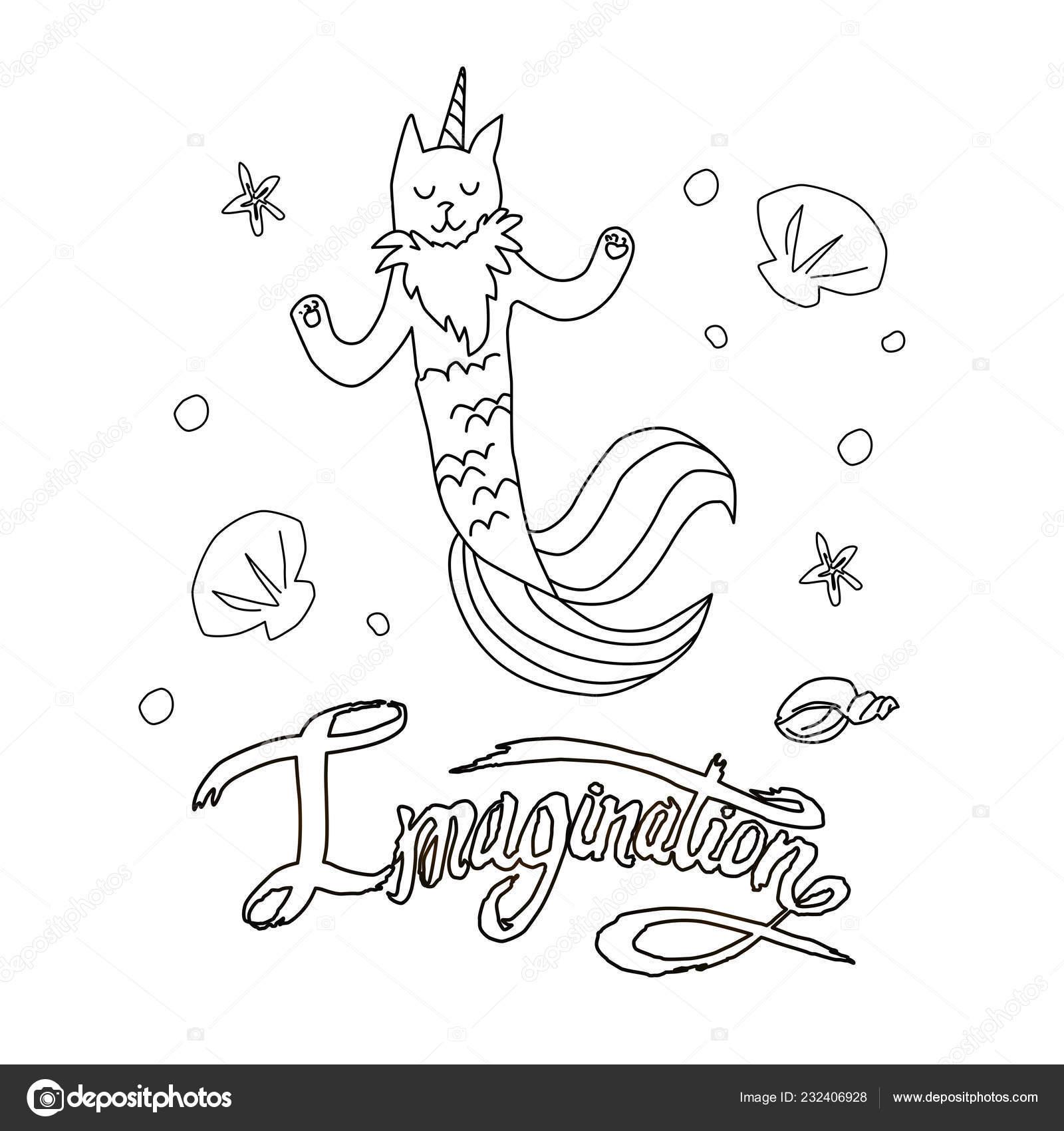 Disegni Da Colorare Pagina Vettoriale Illustrazione Di Gatto