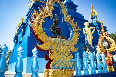Thailand. Chiang Rai. Blue Temple
