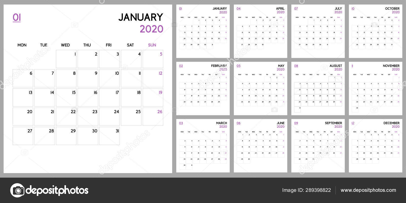 Calendrier 2020 Semaine.Planificateur Calendrier 2020 Conception Modele Base Semaine