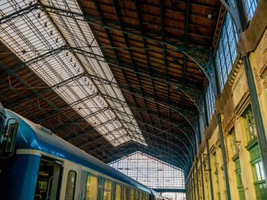 Inside view on the Nyugati Railway Station in Budapest