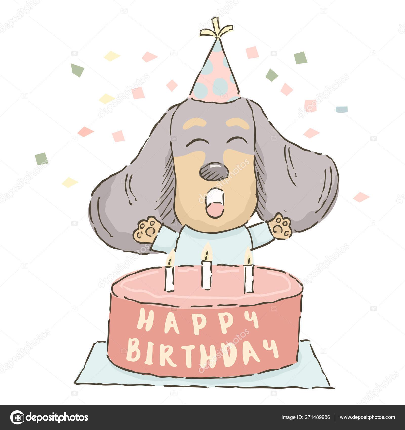 Pleasant Dachshund Birthday Cake Cute Cartoon Dachshund Birthday Cake Funny Birthday Cards Online Unhofree Goldxyz
