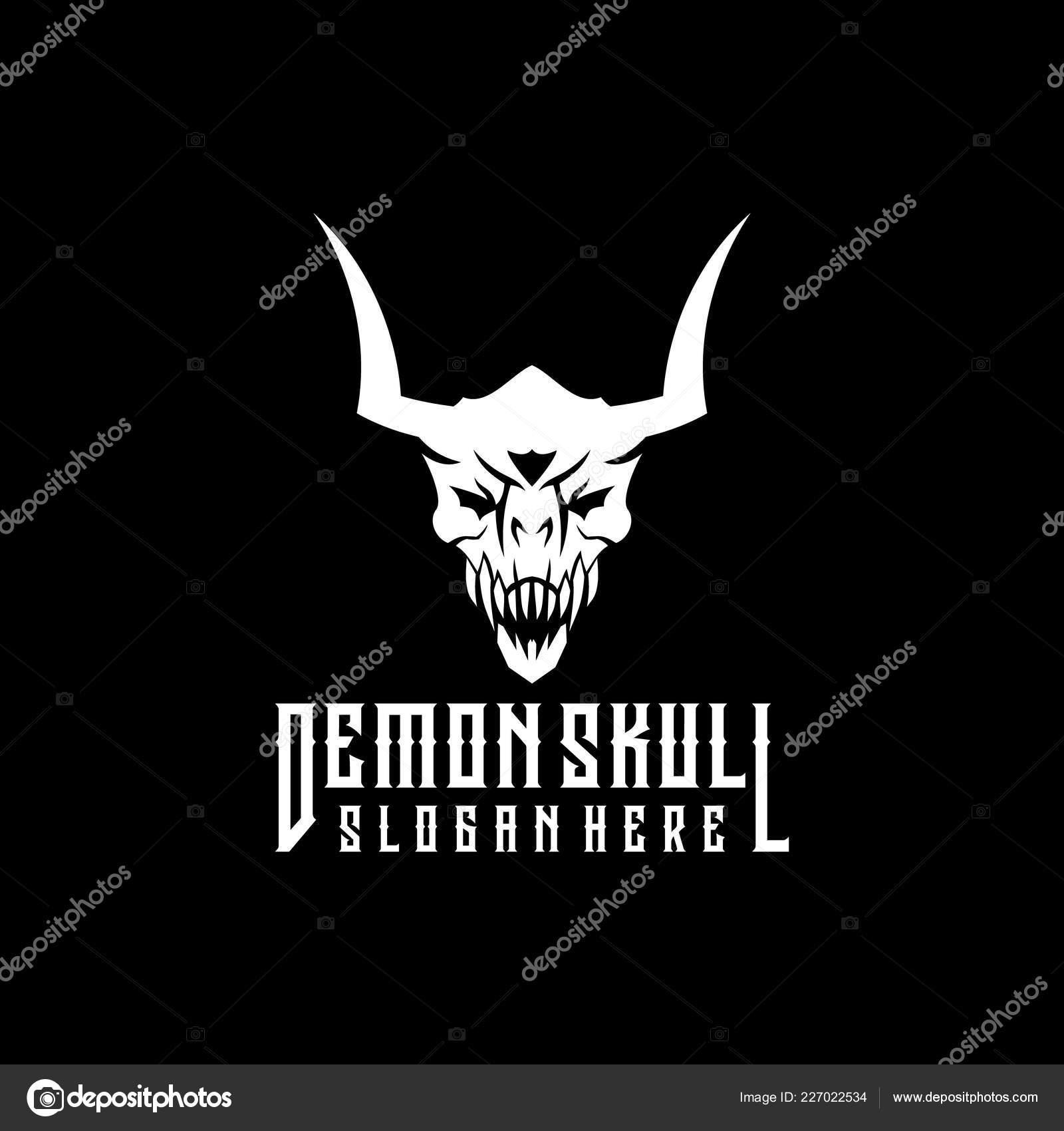 devil logo designs demon skull logo design stock vector c eko07 227022534 https depositphotos com 227022534 stock illustration demon skull logo design html
