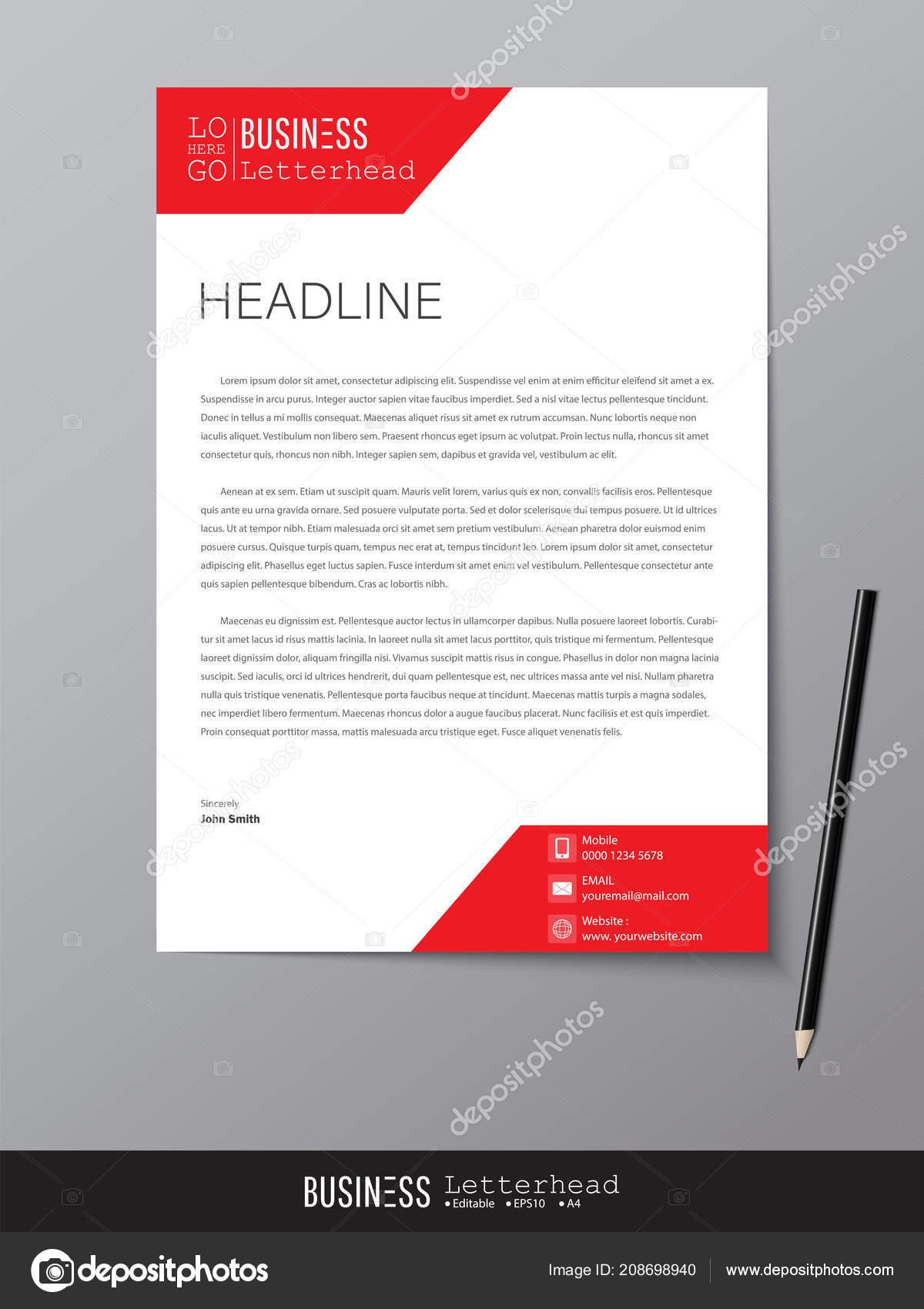 Briefkopf Design Vorlage Und Mock Minimalistischen Stil Vektor