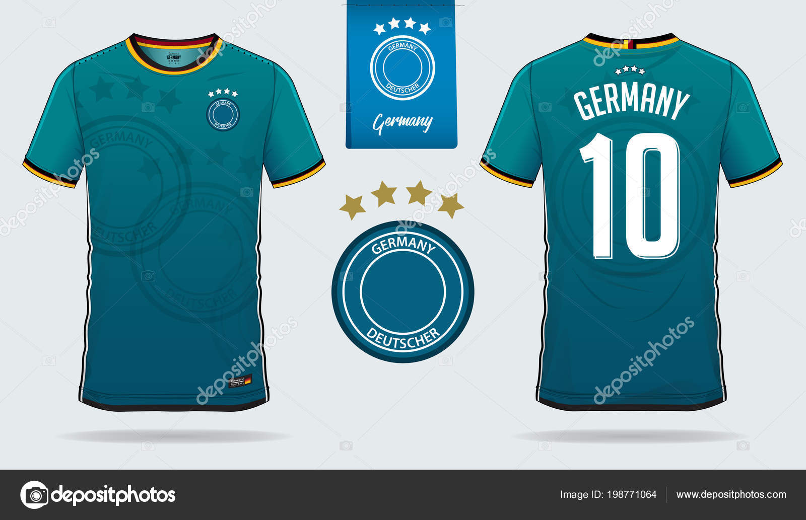 quality design 58369 943ea Soccer Jersey Football Kit Template Design Germany National ...