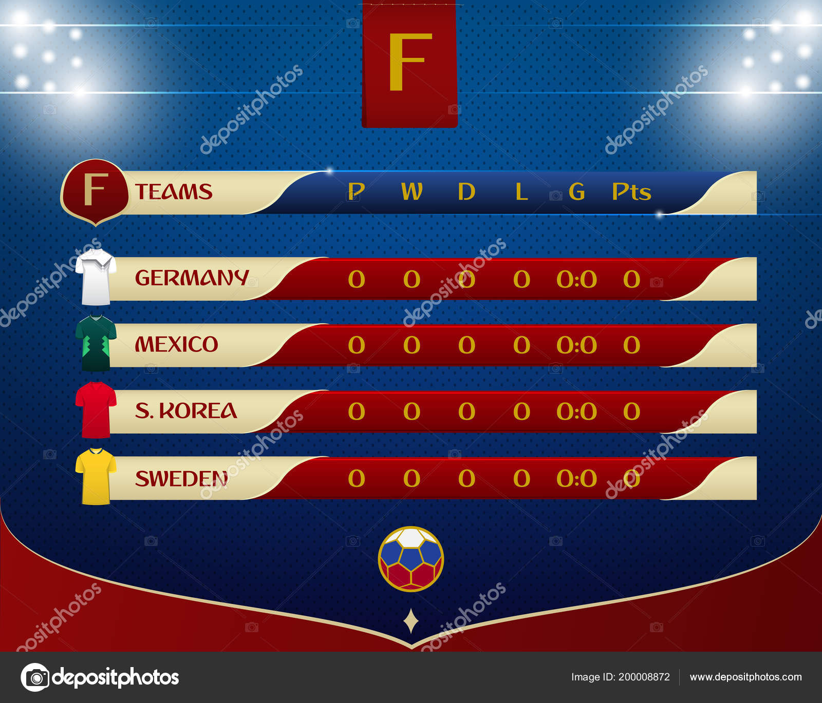 Fussball Oder Fussball Ergebnisse Tabelle Template Design
