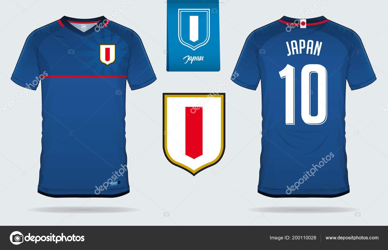 Soccer Jersey Football Kit Template Design Japan National Football