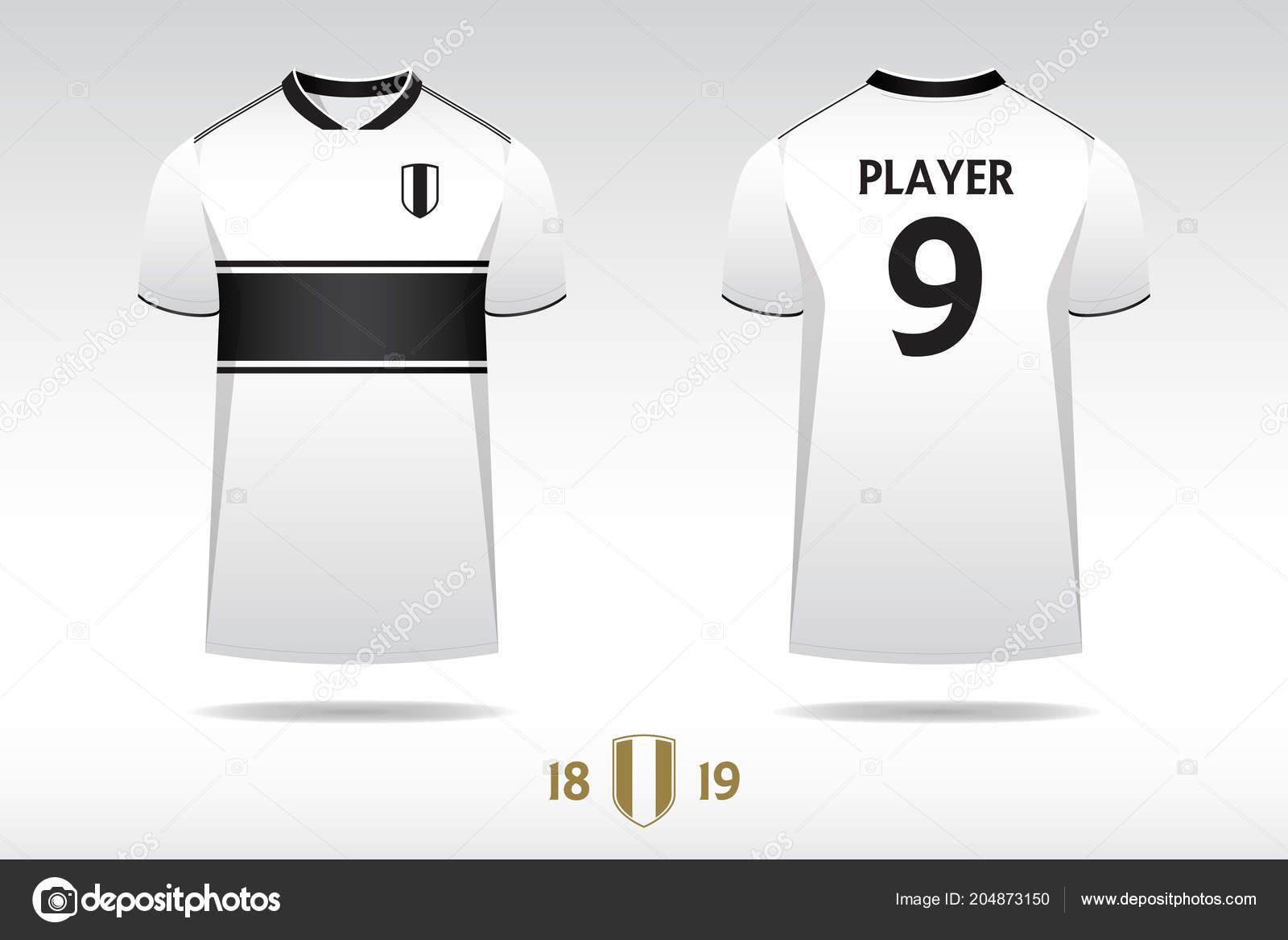 Soccer Jersey Football Kit Shirt Sport Template Design English Stock Vector