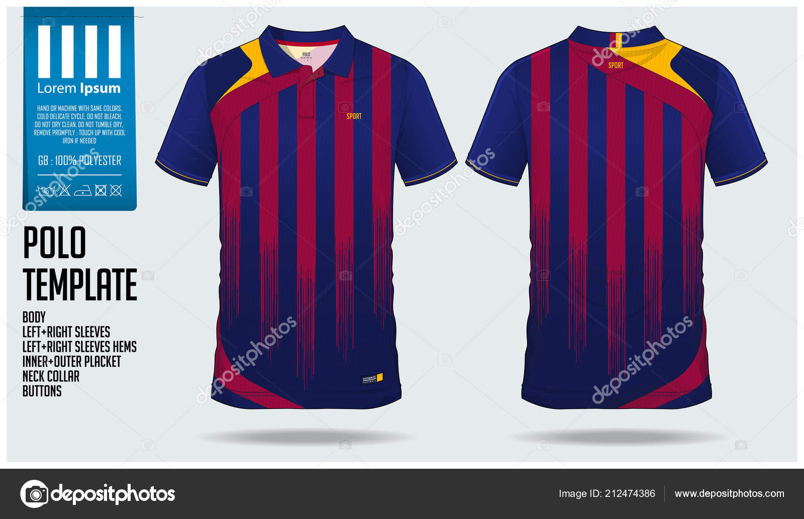 6fc0ece4f ... discount code for red and blue stripe polo t shirt sport template  design for soccer jersey