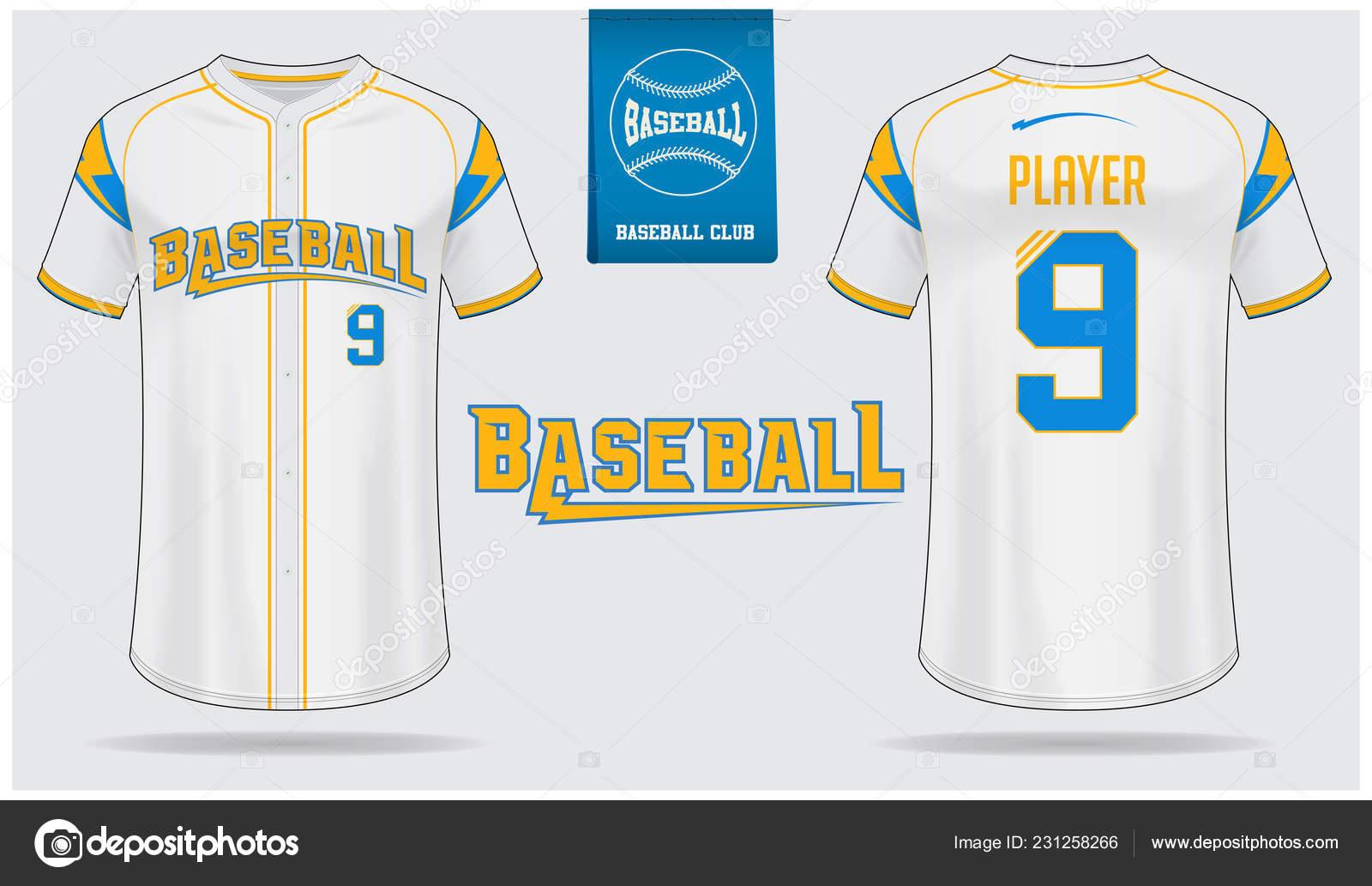 Baseball Trikot Sport Uniform Raglan Shirt Sport Template Design