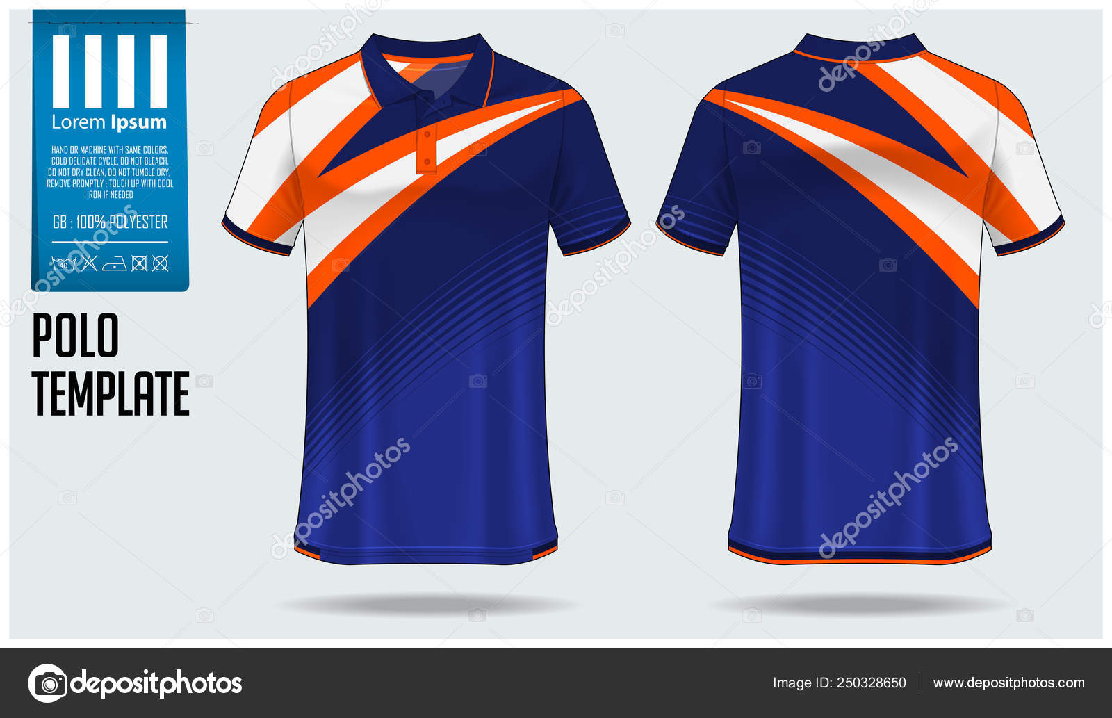 5468f4dac Polo t-shirt template design for soccer jersey, football kit or sportswear. Sport  uniform in front ...