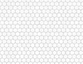 Fotografie Weißen Sechsecken Formen Muster Hintergrund. Einfache, nahtlose Mesh Textur. Abstrakte Darstellung