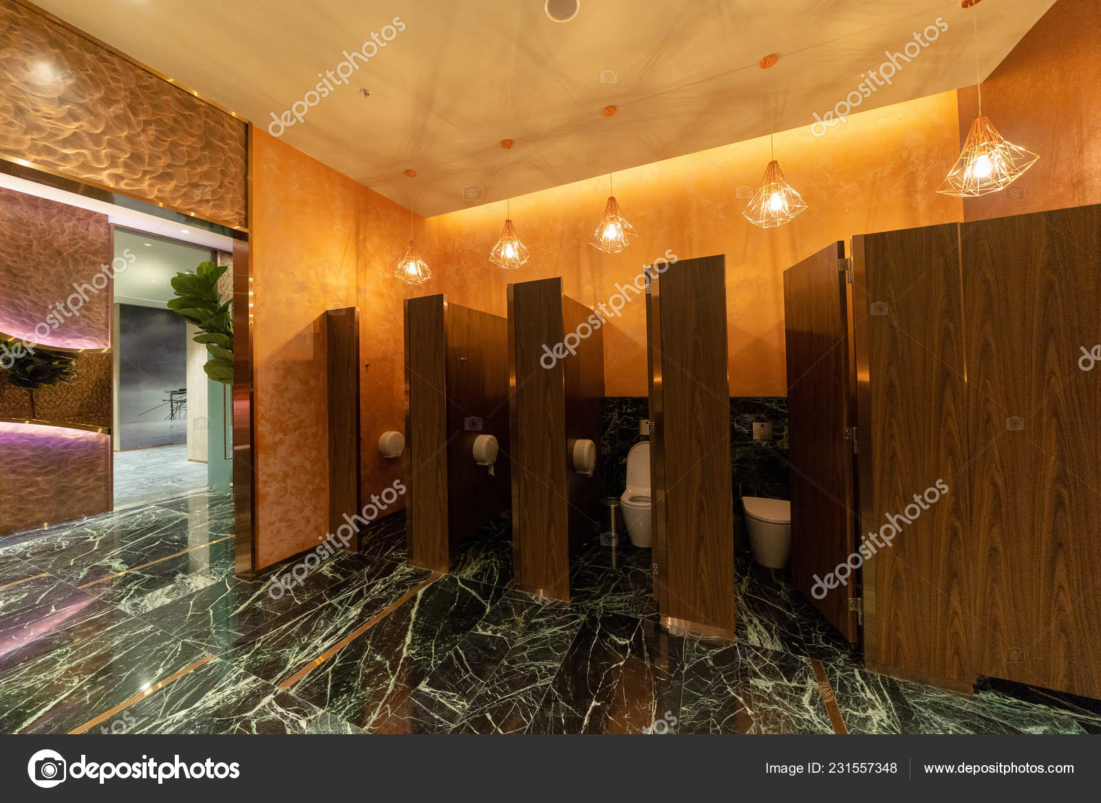 Baño Público Puertas Baño Los Hombres Baño Restaurante Hotel