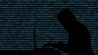 Hacker typing on a laptop with 01 or binary numbers on the computer screen on monitor background matrix, Digital data code in security technology concept. Human shape abstract illustration