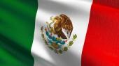 Mexikó nemzeti zászló, fúj a szél, elszigetelt. Hivatalos Toth