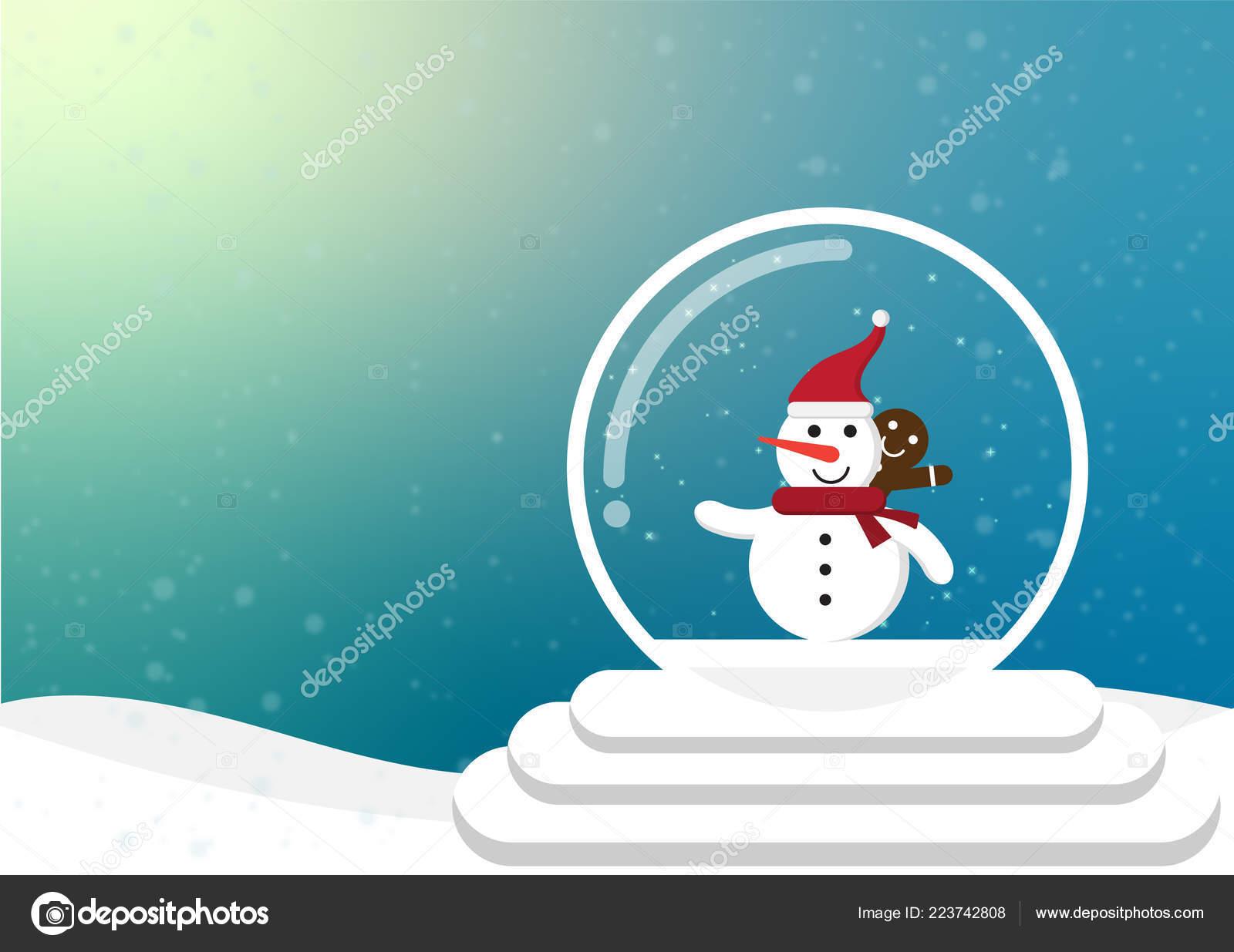 Cartoon christmas and winter season with flat design — Vector by life_killer_2030@hotmail.com