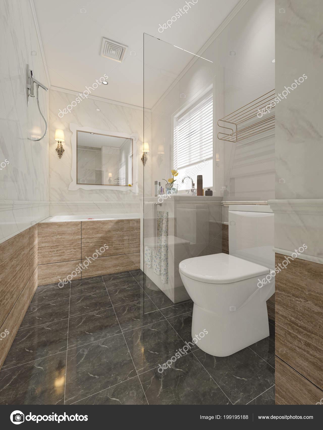 Immagini Piastrelle Bagno Moderno.Piastrelle Bagno Moderno Rendering Con Lusso Arredamento