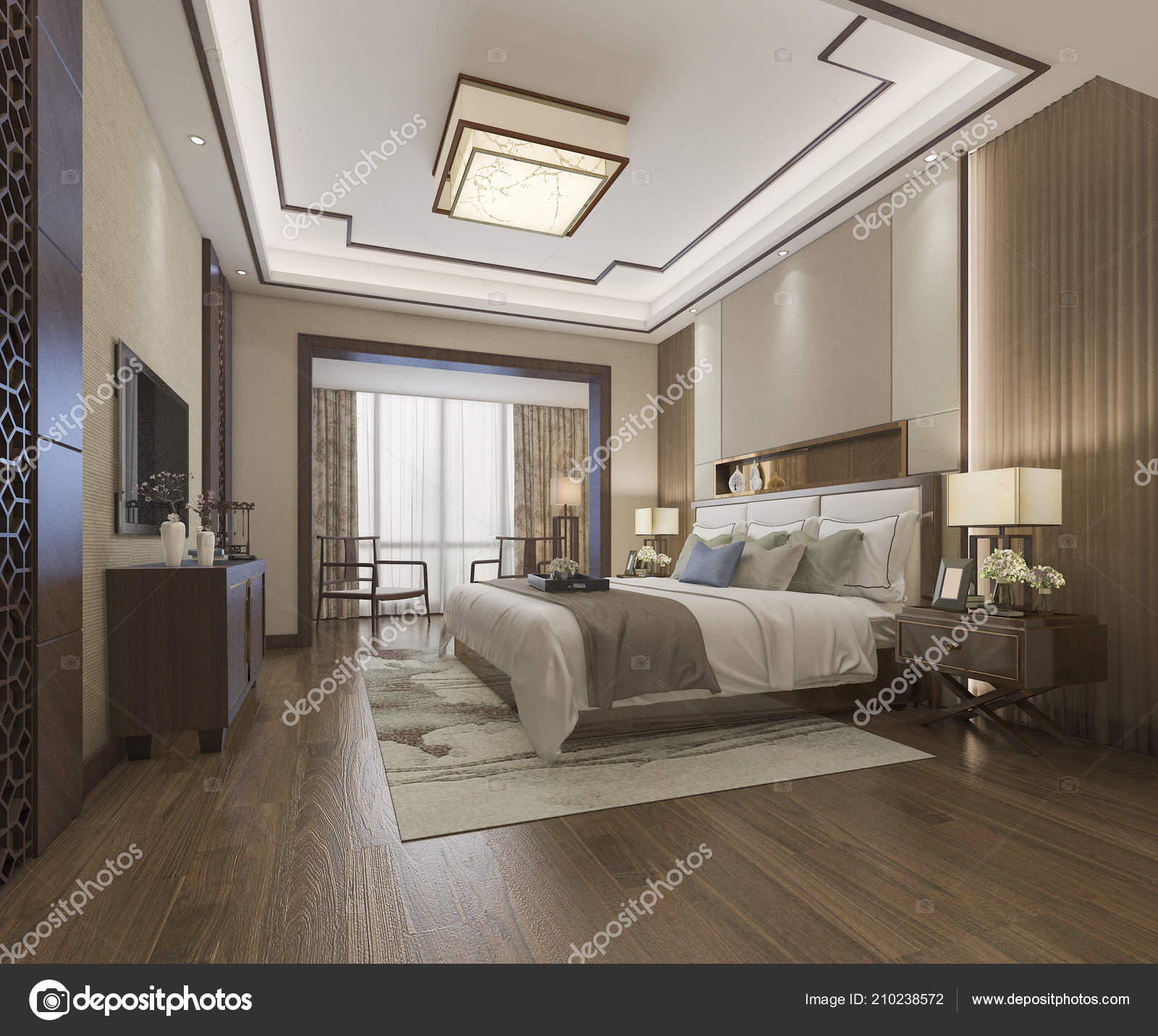 Rendu Suite Chambre Chinoise Magnifique Hôtel Dans Hôtel ...
