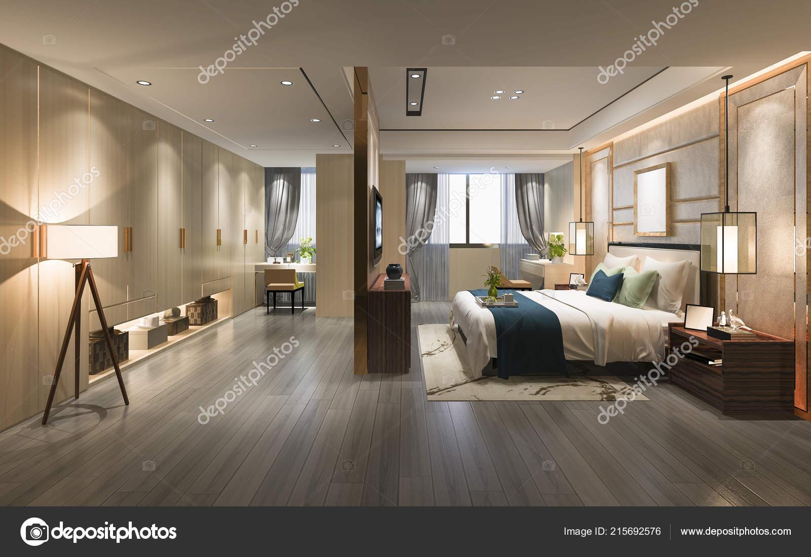 Rendering Luxury Modern Bedroom Suite Wardrobe Walk Closet Stock Photo Image By C Dit26978 215692576