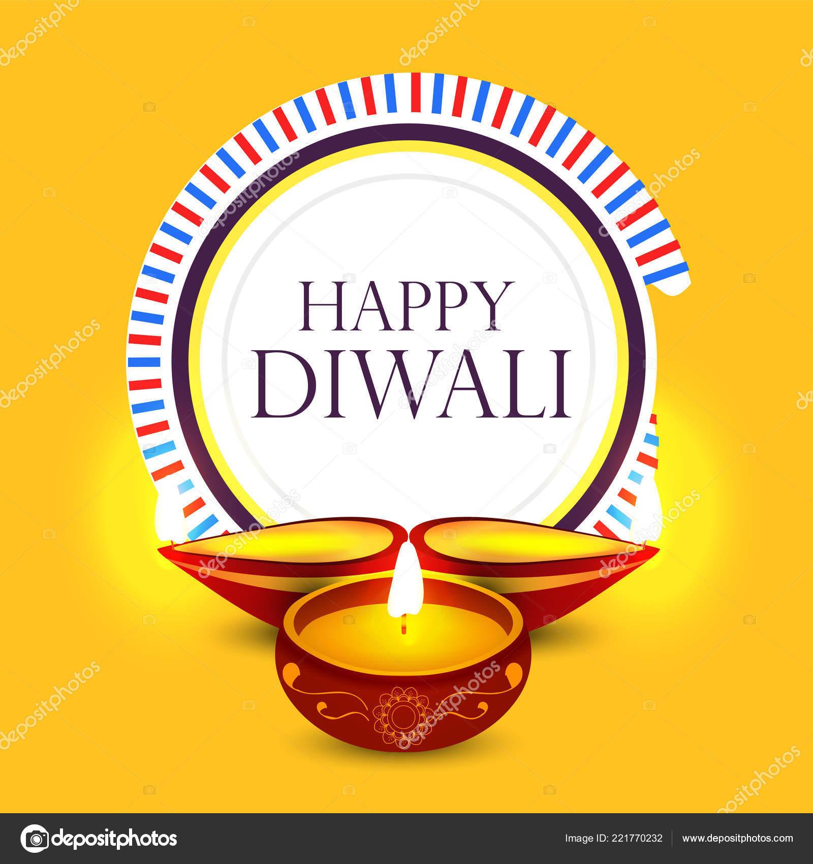 Happy Diwali Poster Header Banner Greeting Card Design