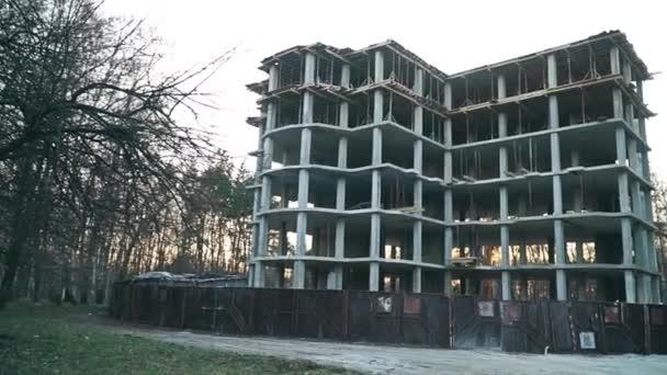 A shot of a modern apartment building construction site