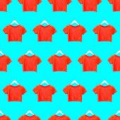 Seamless pattern. Orange T-shirt. Use for t-shirt, greeting card