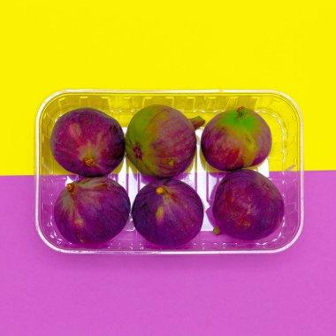 Fresh figs. Fruits raw minimal concept art
