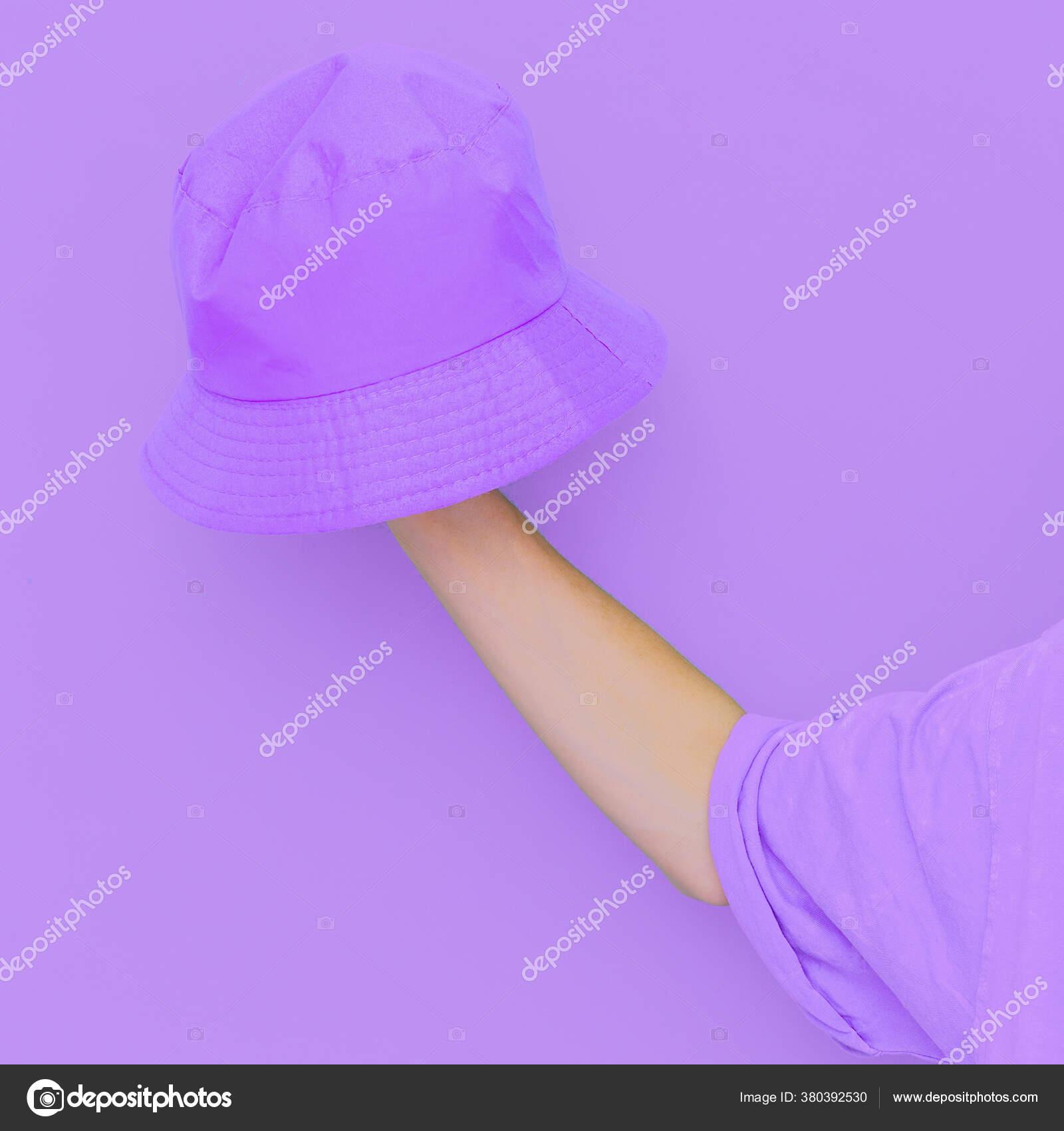 Purple Monochrome Aesthetic Minimal Design Bucket Hat Trends Street Style Stock Photo C Porechenskaya 380392530