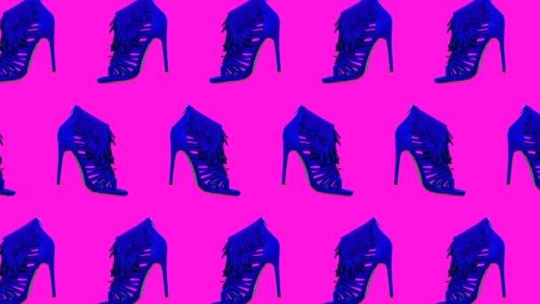 Minimální pohybové umění. Stylová dámské boty módní koncept