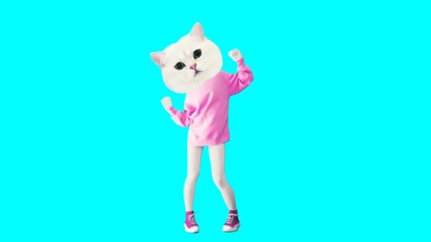 Gif animációs művészet. Csinos Kitty táncol